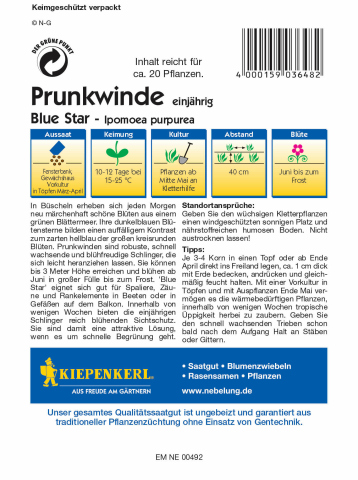 Kiepenkerl Prunkwinde Blue Star 1 Portion